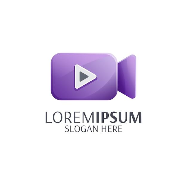 Reproduzir logotipo do vídeo Vetor Premium