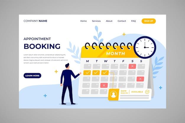 Reserva de compromissos - página de destino Vetor grátis
