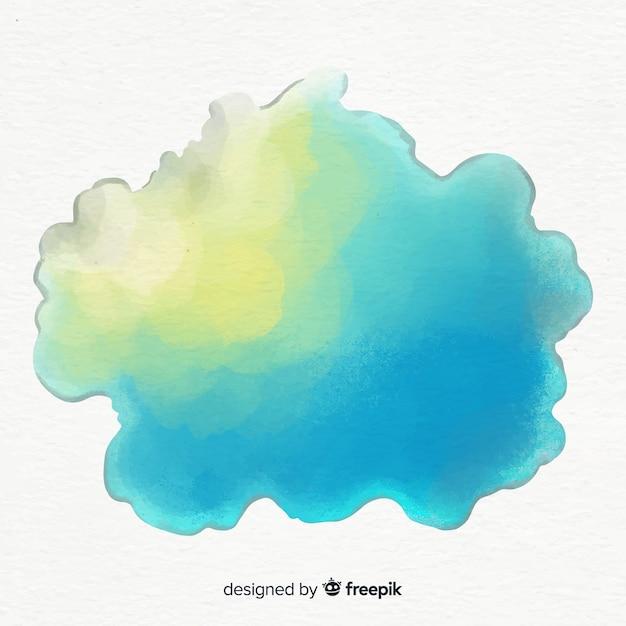 Respingo colorido da aguarela Vetor grátis