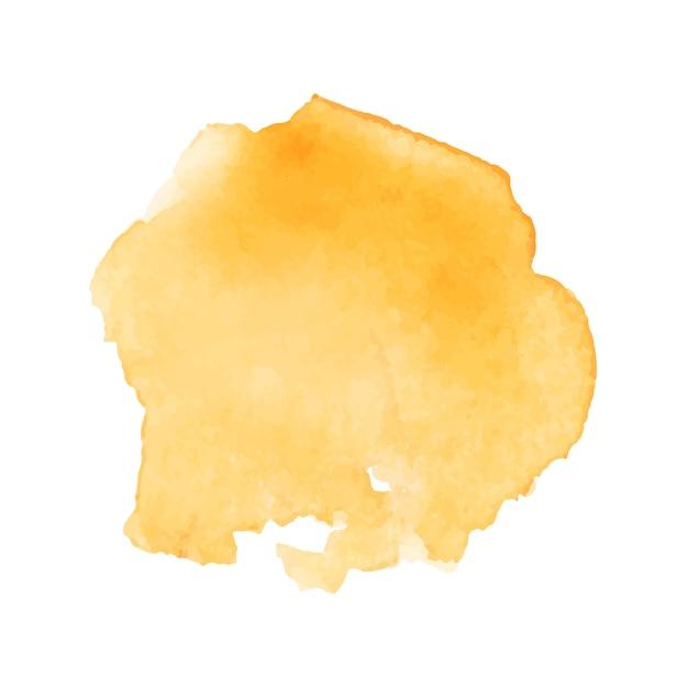 Respingo de aquarela dourada linda Vetor grátis