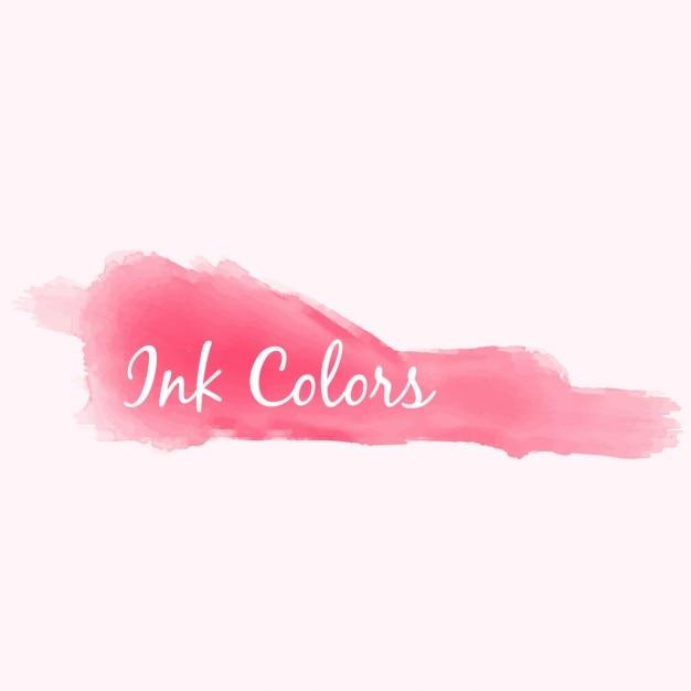 Respingo de tinta rosa Vetor grátis