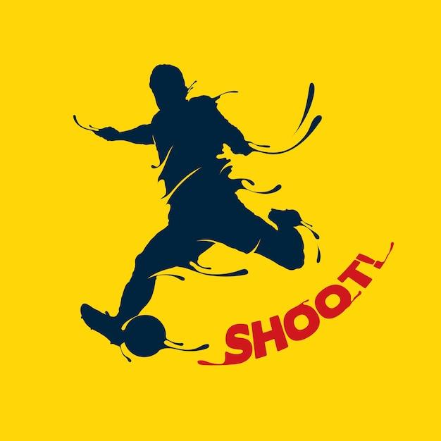 Respingo de tiro de futebol Vetor Premium