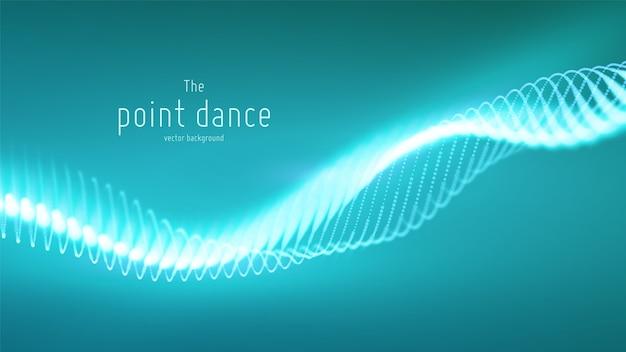 Respingo digital de tecnologia ou explosão de fundo de pontos de dados. ponto de dança de forma de onda. cyber ui, elemento hud. Vetor grátis