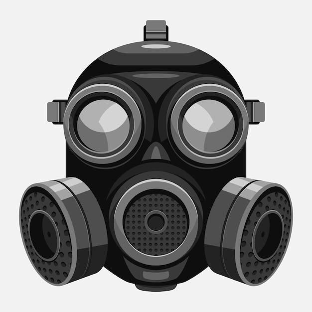 Respirador de máscara de gás ilustrado Vetor grátis