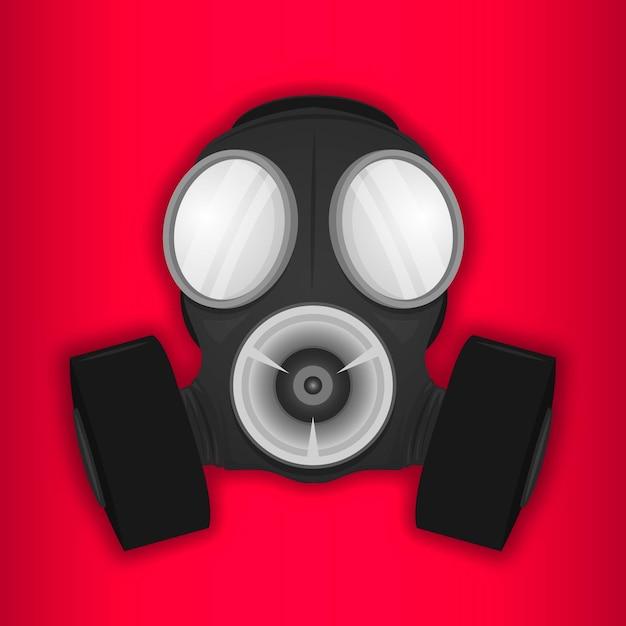 Respirador de máscara de gás Vetor grátis