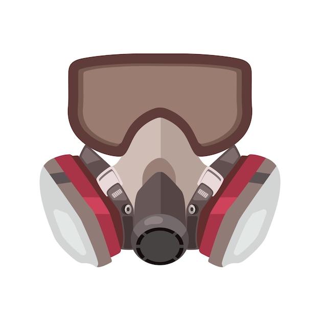 Respirador de máscara de gás Vetor Premium