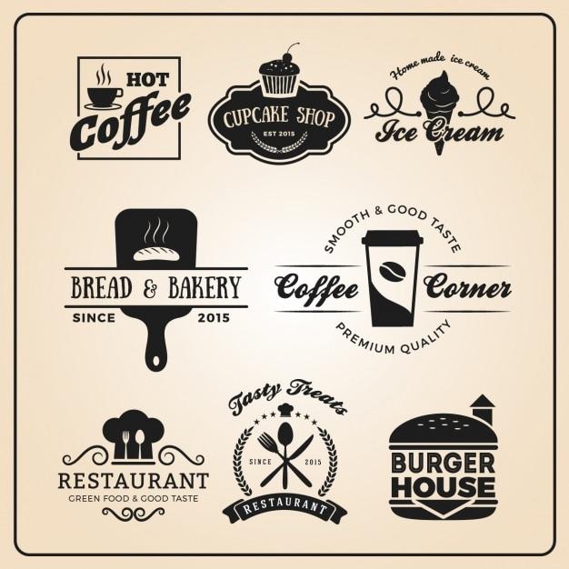 Restaurant coleção modelos de logotipo Vetor grátis
