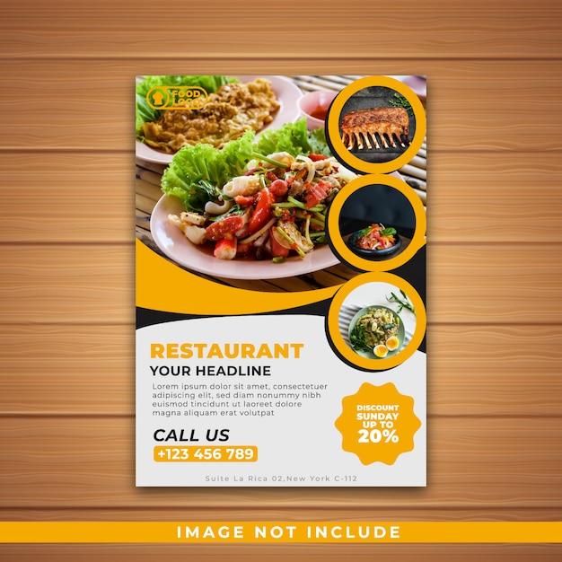 Restaurante flyer Vetor Premium