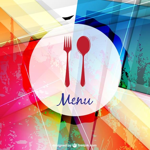 Restaurante menu de ilustração vetorial Vetor grátis