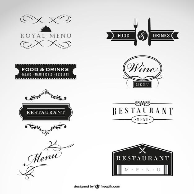 Restaurante vetor livre coleção Vetor grátis