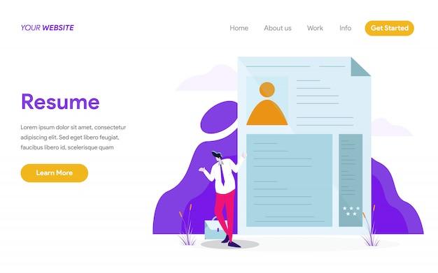 Resume concept ilustração Vetor Premium