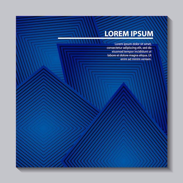 Resumo abrange o quadro de forma geométrica azul de fundo Vetor Premium