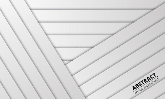 Resumo branco com linhas e sombras prateadas. Vetor Premium