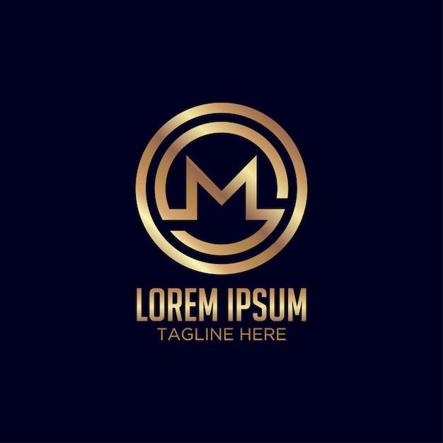 Resumo criativa letra m logotipo Vetor Premium