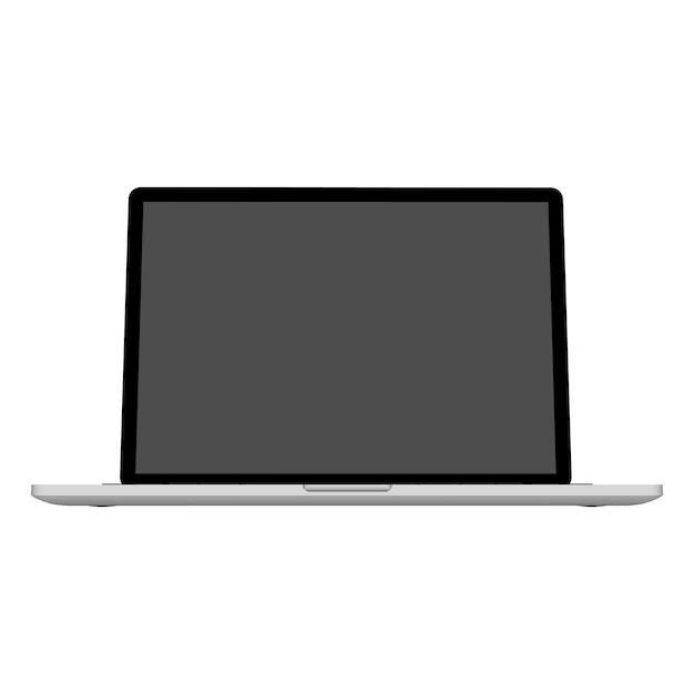 Resumo criativo laptop, modelo de caderno. Vetor Premium
