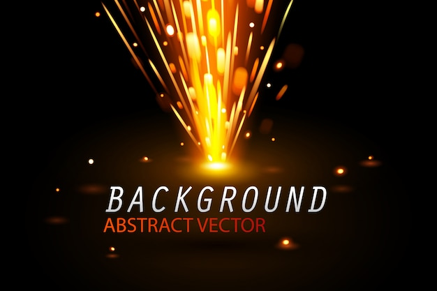 Resumo de faíscas brilho efeito especial e plano de fundo Vetor Premium