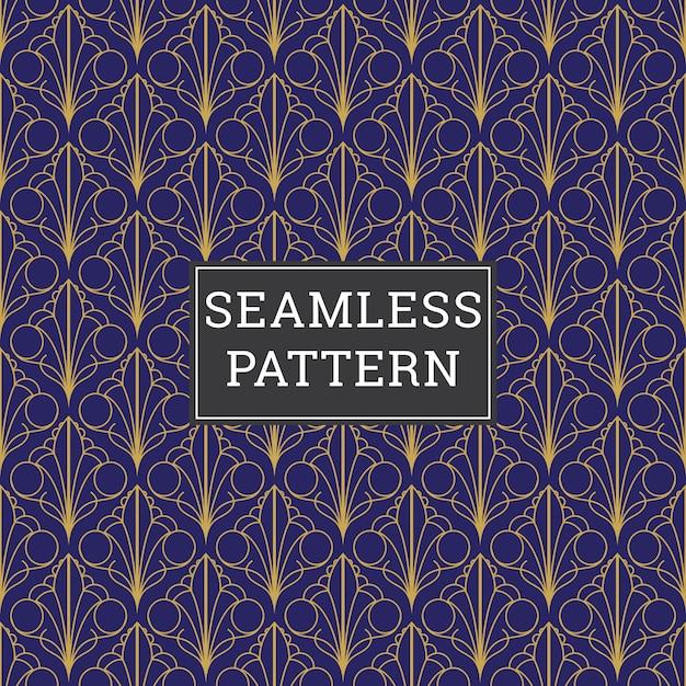 Resumo de fundo art deco seamless pattern Vetor Premium