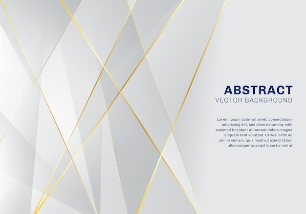 Resumo de fundo branco e cinza de luxo padrão poligonal Vetor Premium