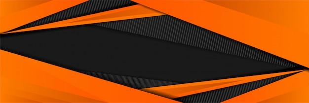 Resumo desportivo com cor laranja de design de plano de fundo Vetor Premium