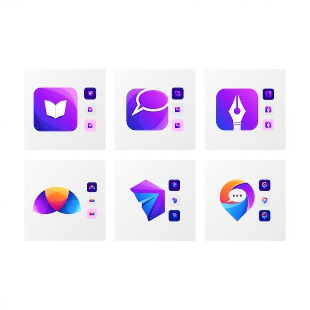 Resumo do logotipo do ícone Vetor Premium