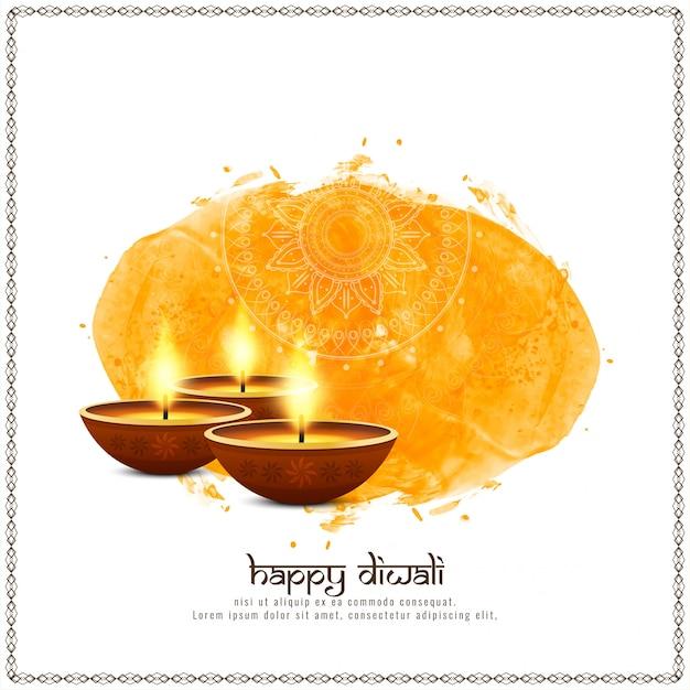 Resumo elegante feliz diwali festival saudação fundo Vetor grátis