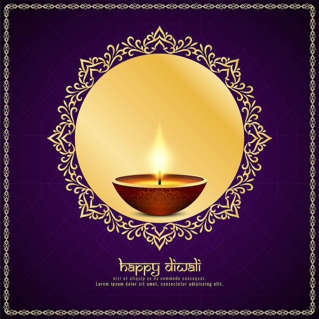 Resumo feliz diwali festival fundo Vetor Premium