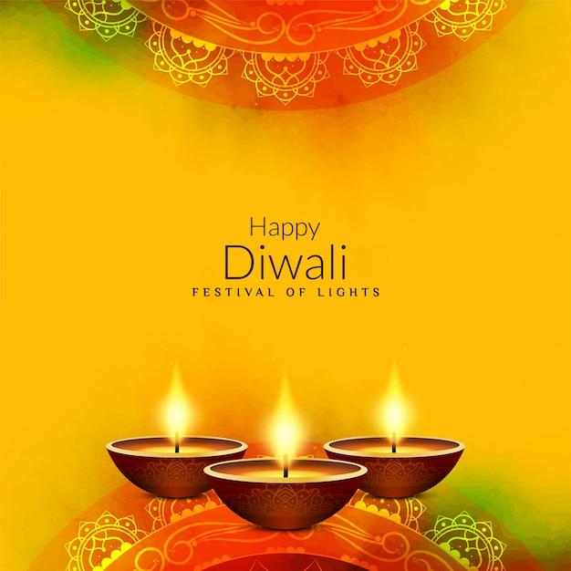 Resumo feliz diwali fundo saudação religiosa Vetor grátis