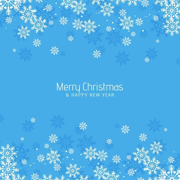 Resumo feliz natal saudação fundo azul Vetor grátis