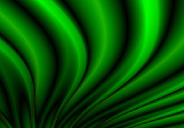 Resumo fluindo fundo de onda verde Vetor grátis