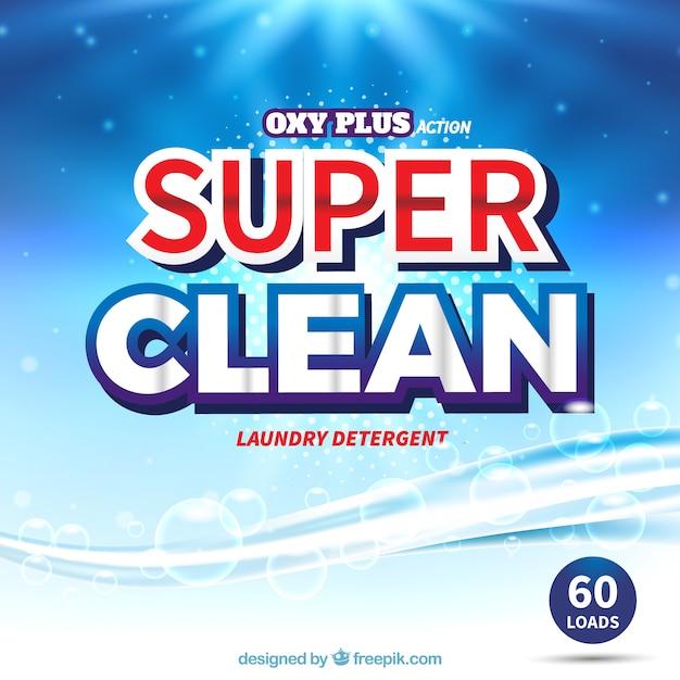 Resumo fundo azul de detergente Vetor grátis