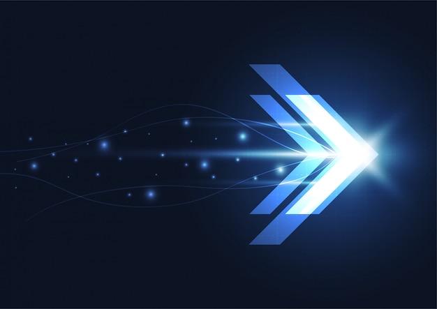 Resumo futuro conceito de tecnologia de velocidade digital Vetor Premium