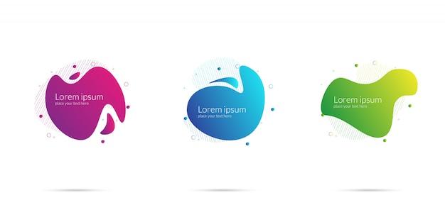 Resumo líquido de plástico Vetor Premium