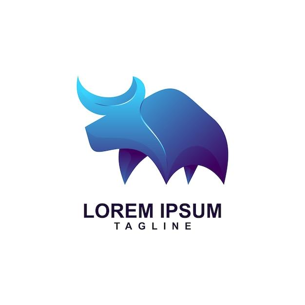 Resumo moderno bull logo premium Vetor Premium