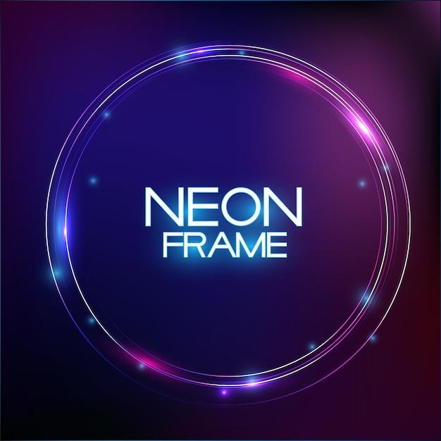 Resumo neon fina venda em fundo escuro Vetor Premium
