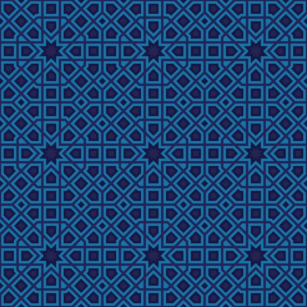 Resumo padrão em estilo árabe Vetor Premium