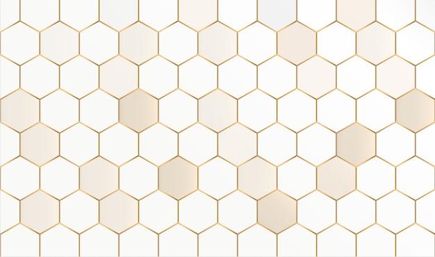 Resumo padrão sem emenda hexagonal. favo de mel abstrato. Vetor Premium