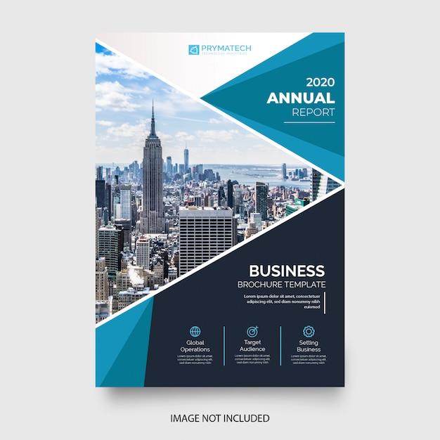Resumo relatório anual com formas azuis Vetor grátis