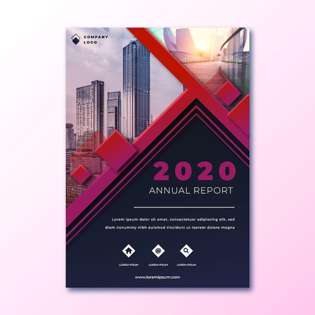Resumo relatório anual com modelo de imagem Vetor grátis