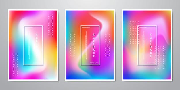 Resumo trendy gradient shapes fundos holográficos Vetor Premium