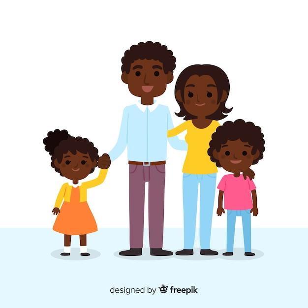 Retrato de família Vetor grátis