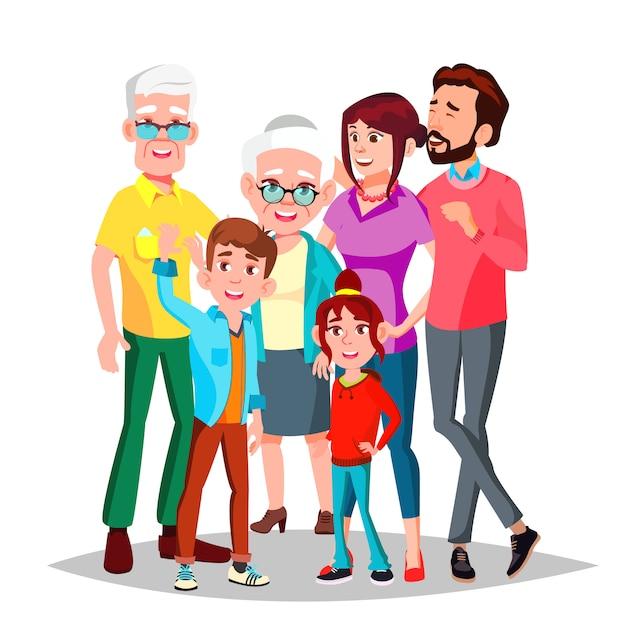 Retrato de família Vetor Premium