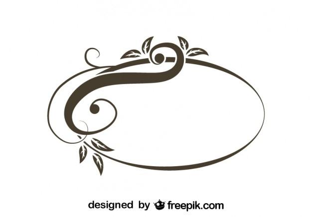 Retro assimétrico design elegante redemoinho oval Vetor grátis