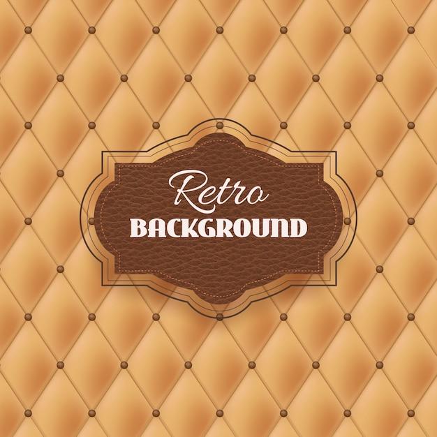 Retro background estofos Vetor Premium