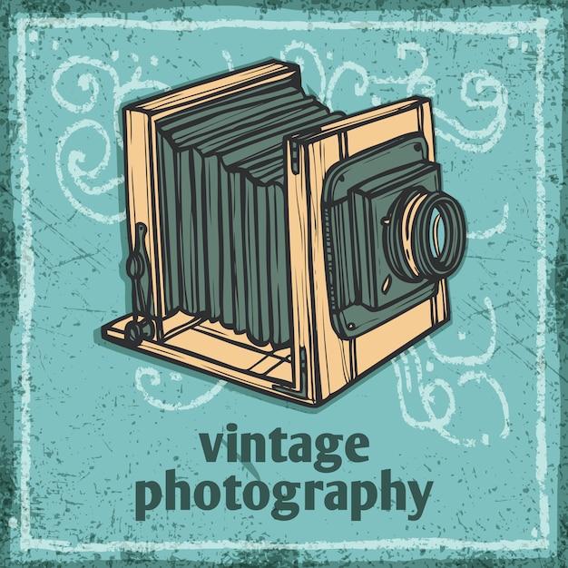 Retro, câmera, ilustração Vetor grátis