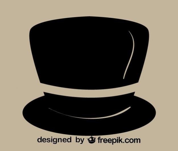 Retro ícone cavalheiro chapéu Vetor grátis