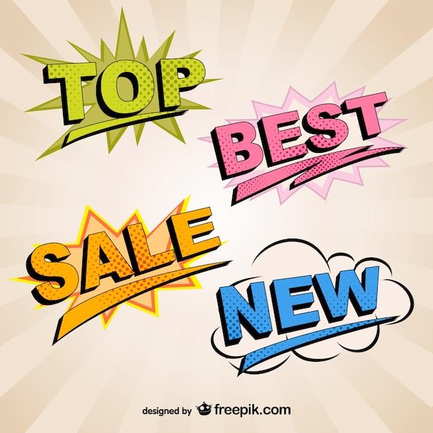 Retro tipografia de marketing Vetor Premium