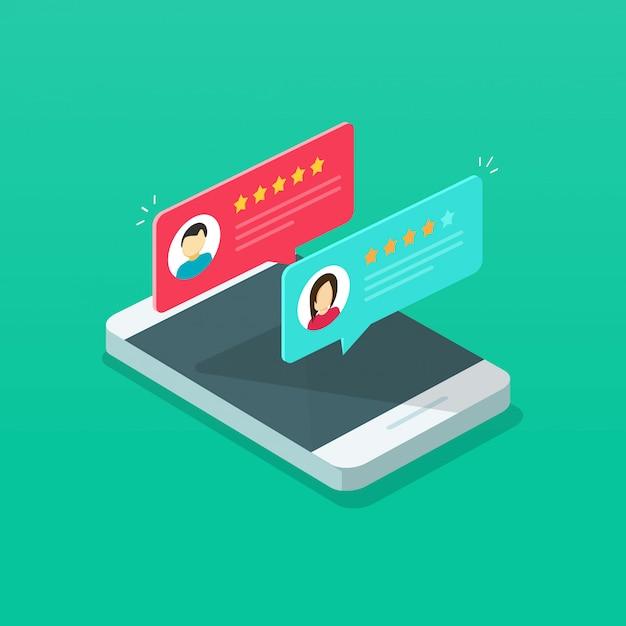 Rever a classificação no celular Vetor Premium