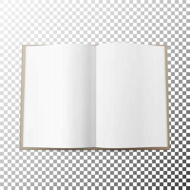 Revista aberta espalhar vetor em branco Vetor Premium