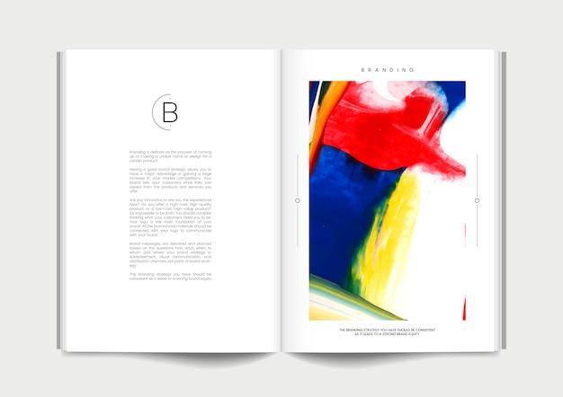 Revista com ideias de branding Vetor grátis