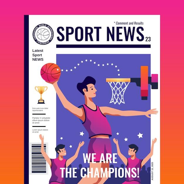 Revista de notícias esportivas Vetor grátis
